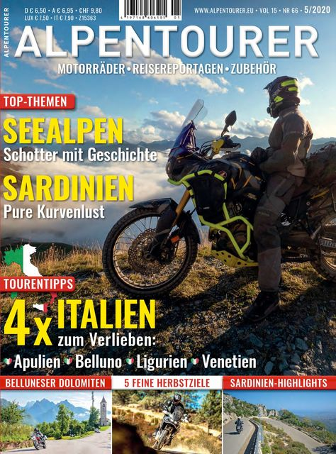 ALPENTOURER – Europas Motorrad-Tourenmagazin Ausgabe 05/2020
