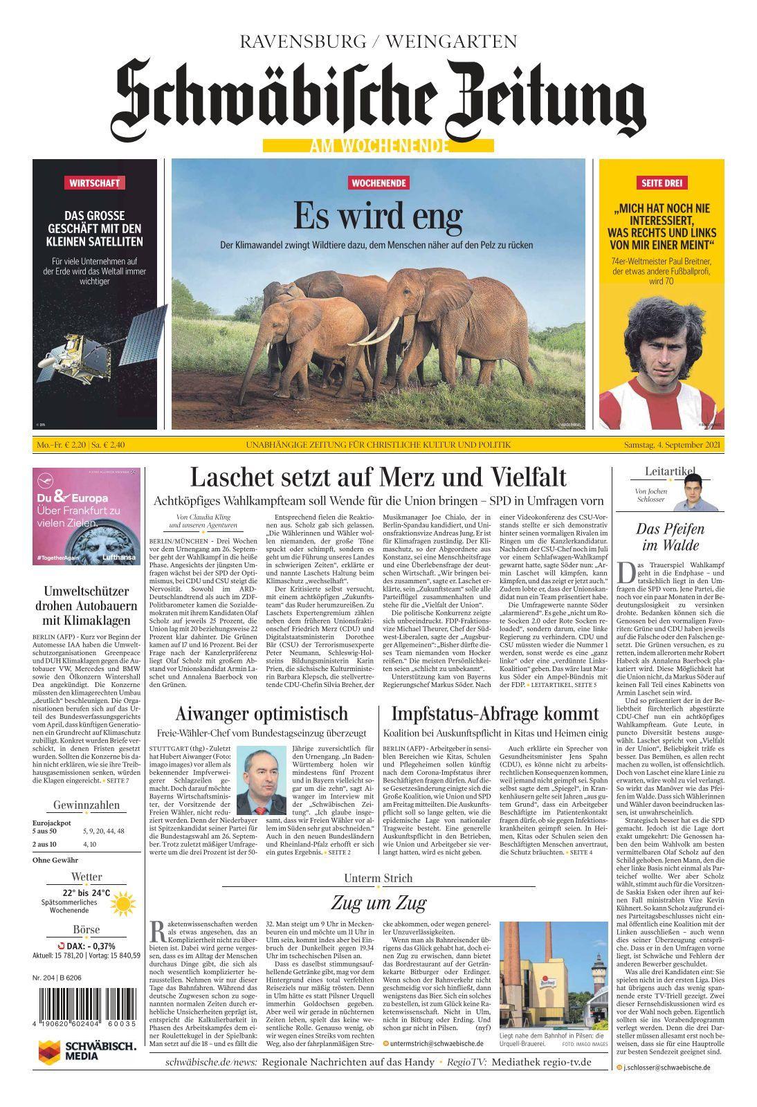 Schwäbische Zeitung Ravensburg   20 20 20