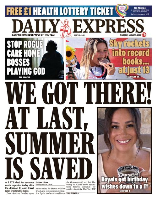 Daily Express 2021-08-05