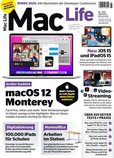 Mac Life Ausgabe 08/2021