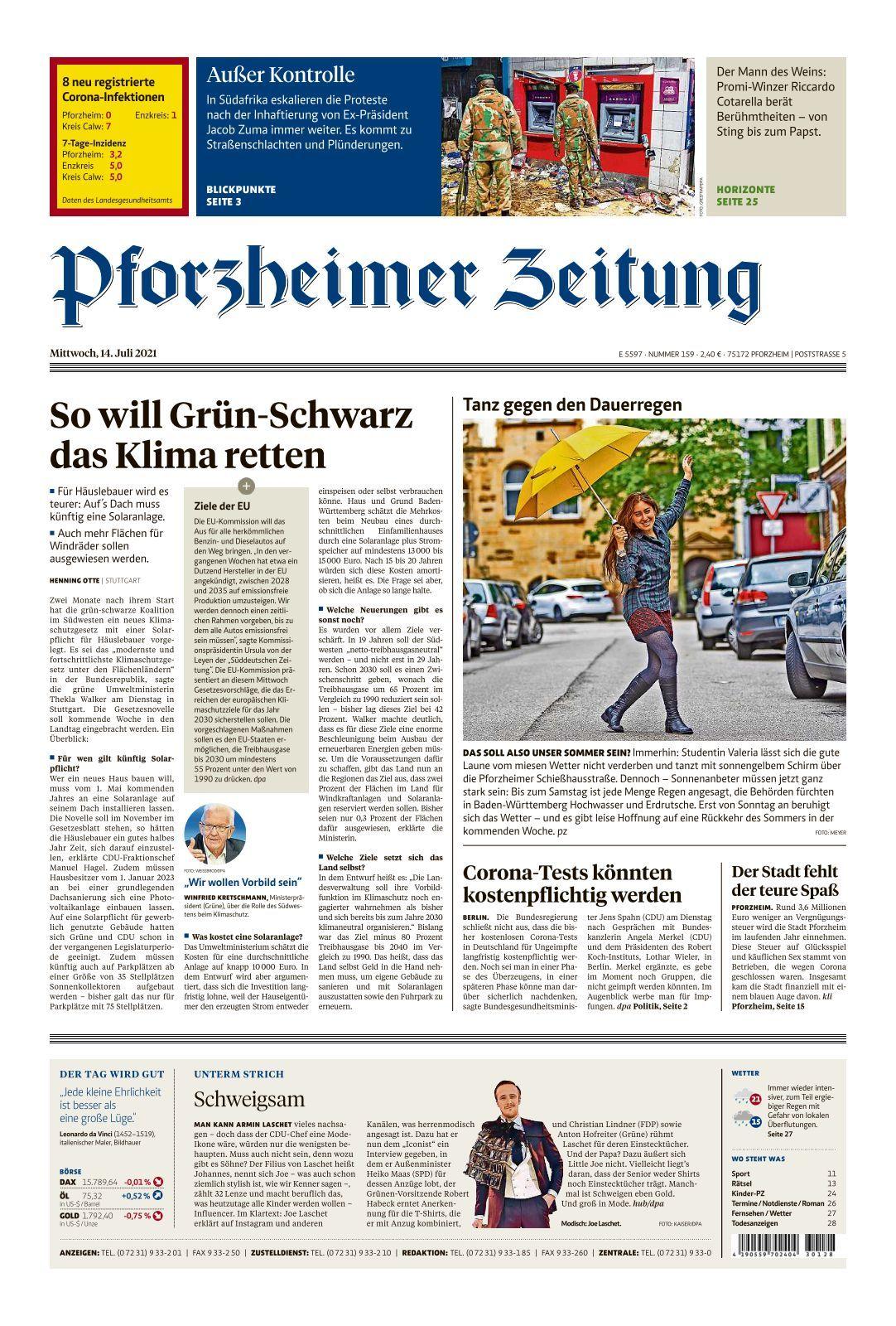 Pforzheimer Zeitung   Ausgabe Pforzheim   20 20 20
