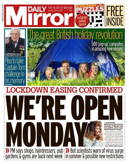 Daily Mirror 2021-04-06