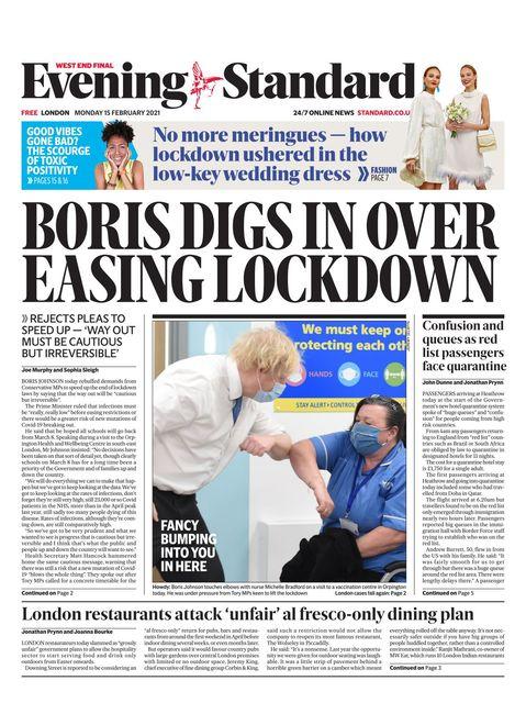 Evening Standard 2021-02-15