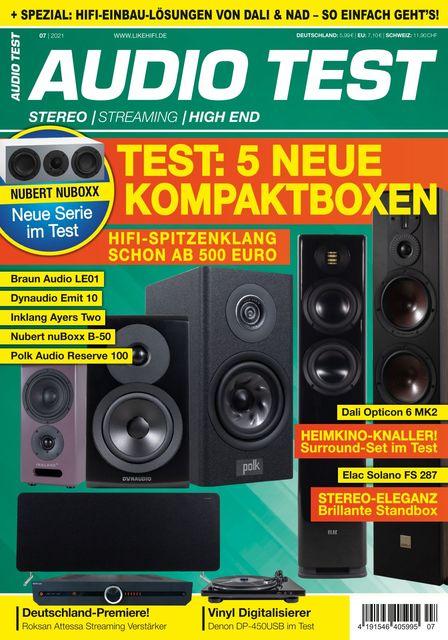AUDIO TEST Ausgabe 07/2021