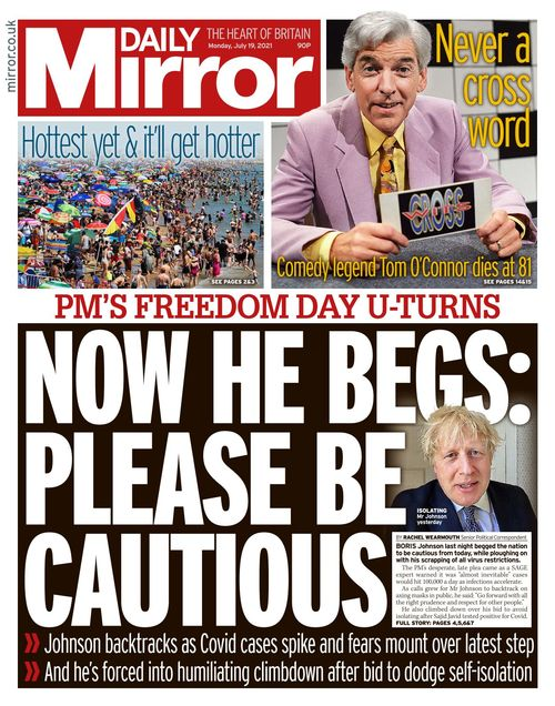 Daily Mirror 2021-07-19