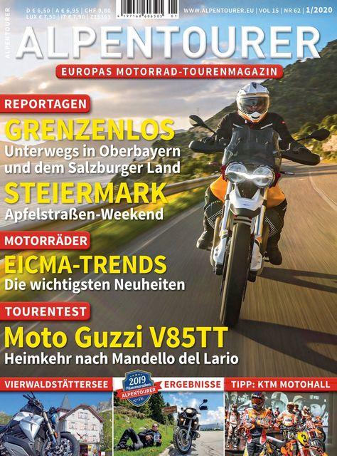 ALPENTOURER – Europas Motorrad-Tourenmagazin Ausgabe 01/2020