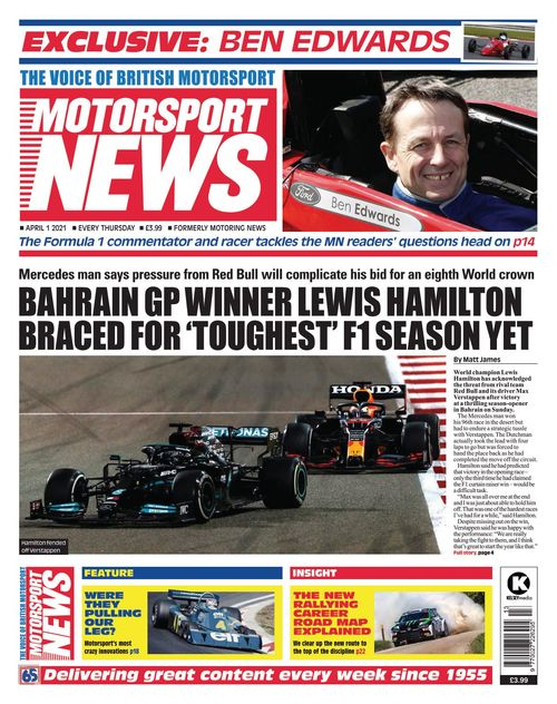 Motorsport News 1 April 2021