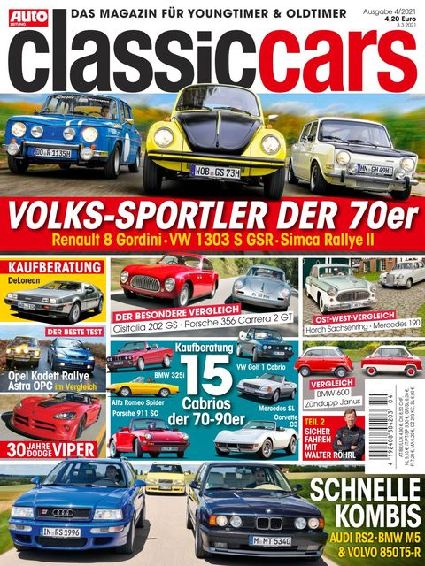 AUTO ZEITUNG classic cars Ausgabe 4/2021