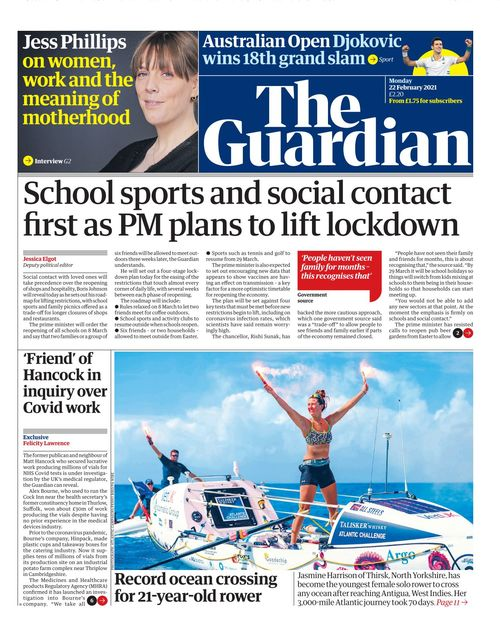 The Guardian 2021-02-22