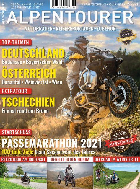 ALPENTOURER – Europas Motorrad-Tourenmagazin Ausgabe 02/2021