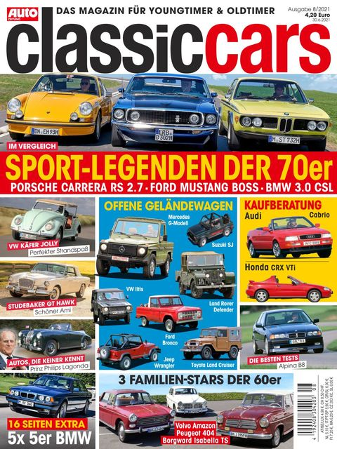 AUTO ZEITUNG classic cars Ausgabe 8/2021