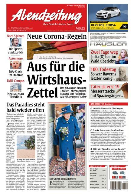 Abendzeitung 2021-10-13