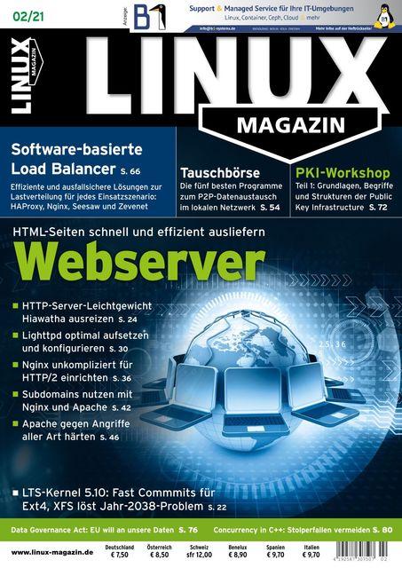 Linux Magazin Ausgabe 02/2021