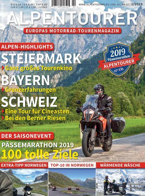 ALPENTOURER – Europas Motorrad-Tourenmagazin Ausgabe 02/2019
