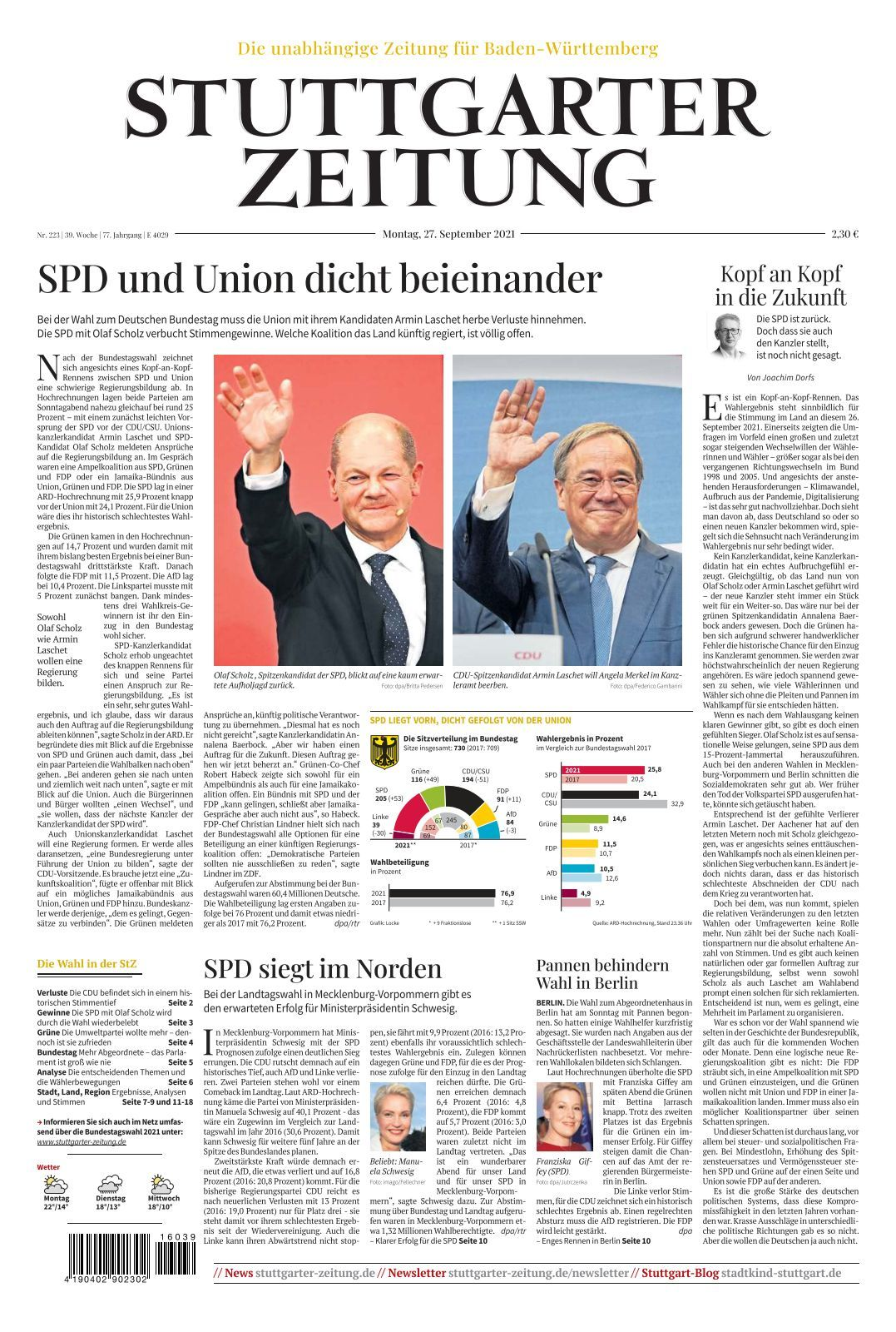 Stuttgarter Zeitung   20 20 20