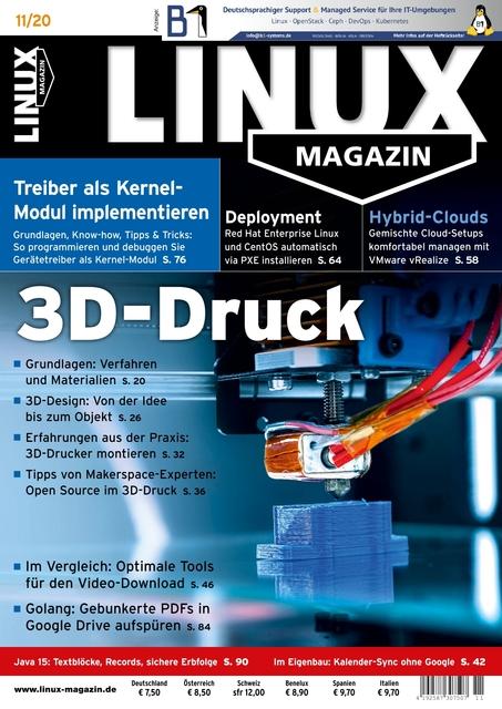 Linux Magazin Ausgabe 11/2020