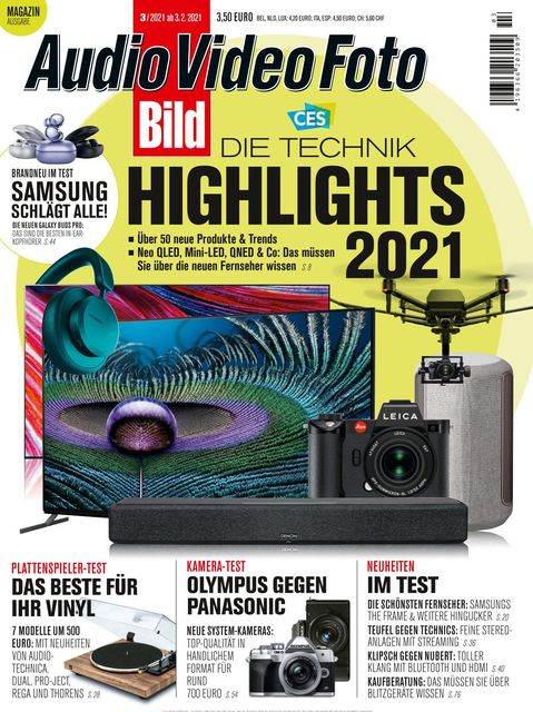 Audio Video Foto BILD Ausgabe 03/2021
