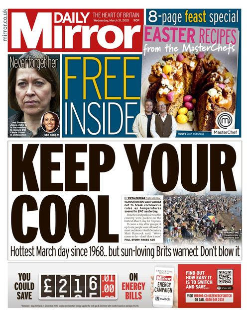 Daily Mirror 2021-03-31