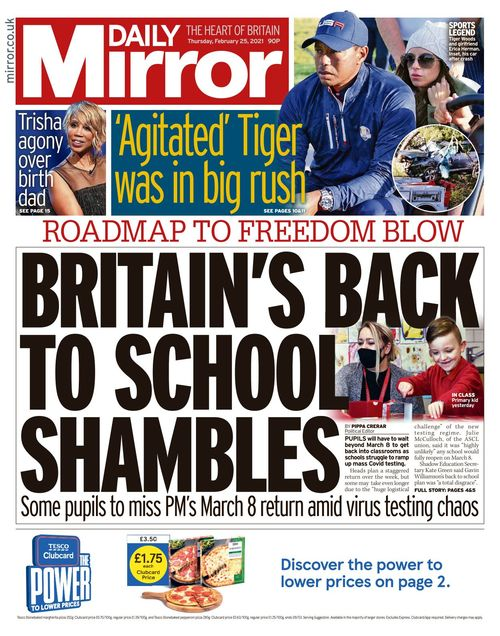 Daily Mirror 2021-02-25