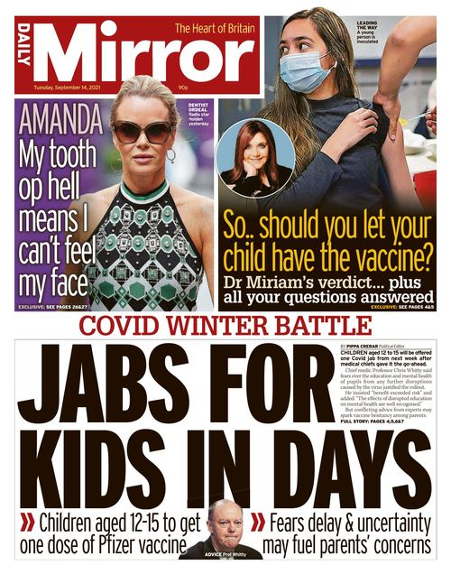 Daily Mirror 2021-09-14