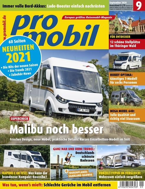 Promobil Ausgabe 09/2020