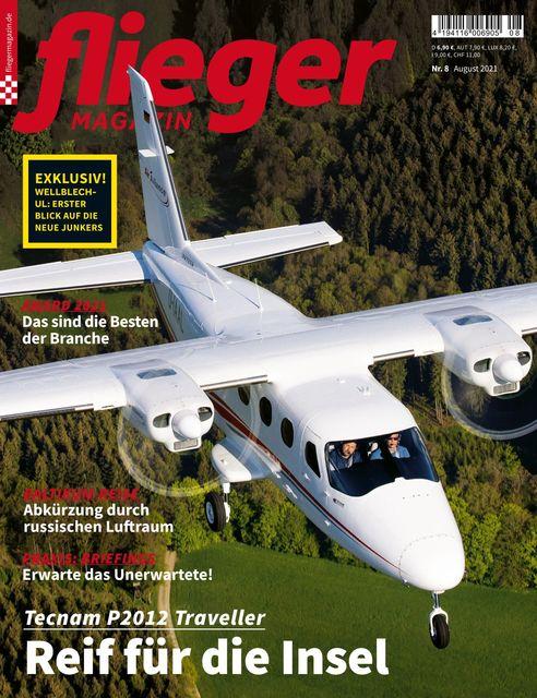 fliegermagazin Ausgabe 08/2021