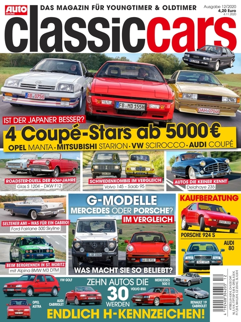 AUTO ZEITUNG classic cars Ausgabe 12/2020