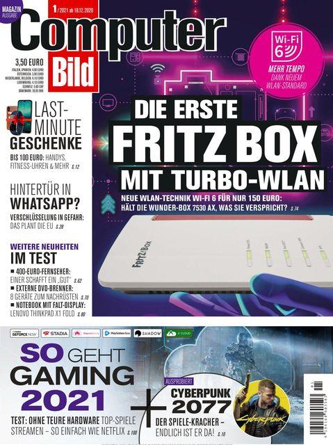COMPUTER BILD Ausgabe 01/2021