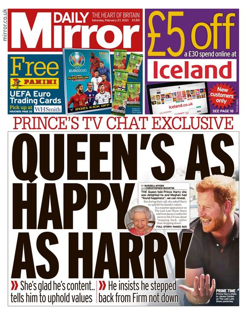 Daily Mirror 2021-02-27
