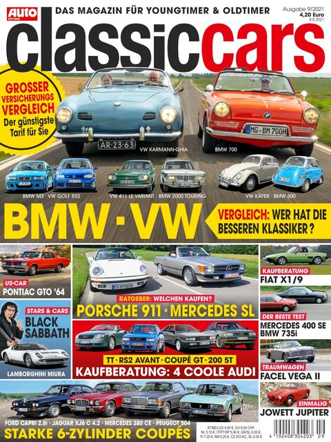 AUTO ZEITUNG classic cars Ausgabe 9/2021