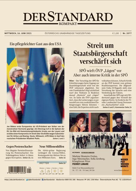 DER STANDARD Kompakt 2021-06-16