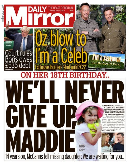 Daily Mirror 2021-05-13