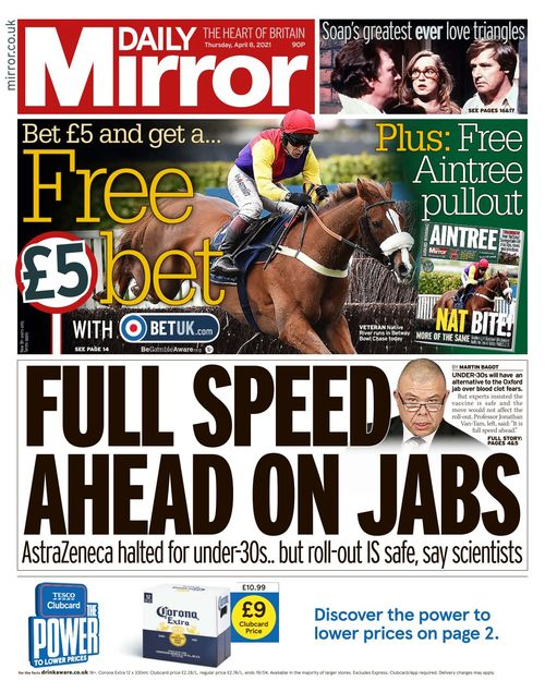 Daily Mirror 2021-04-08