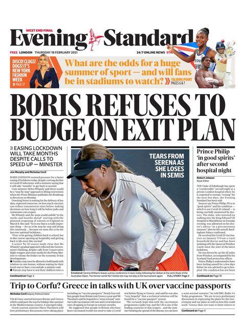 Evening Standard 2021-02-18