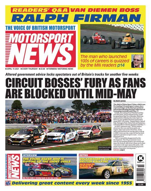 Motorsport News 2021-04-15