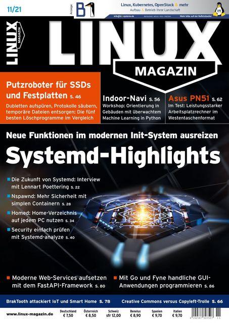 Linux Magazin Ausgabe 11/2021