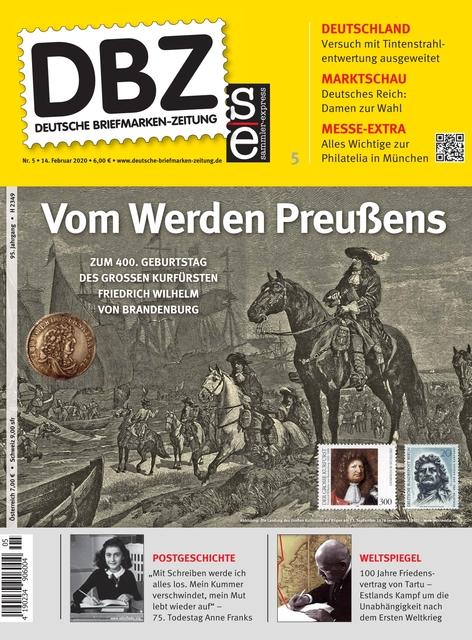 Ausgabe Deutsche Briefmarken/Zeitung