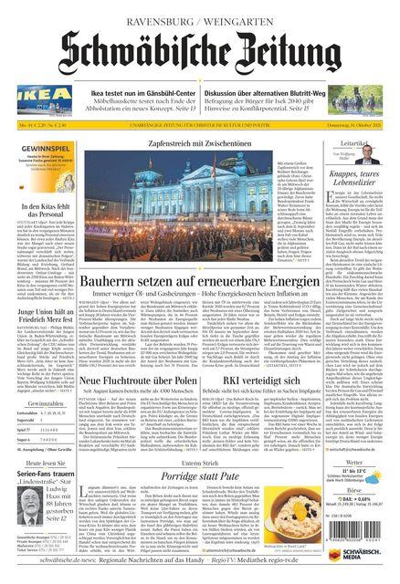 Schwäbische Zeitung (Ravensburg) 2021-10-14