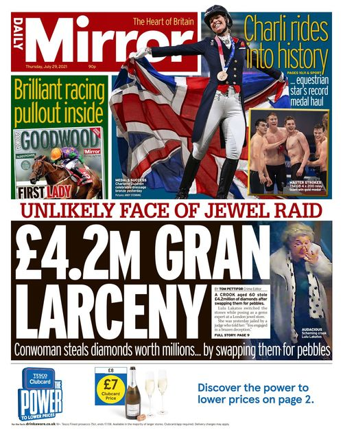 Daily Mirror 2021-07-29