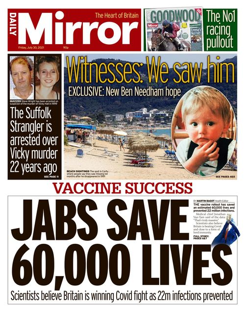 Daily Mirror 2021-07-30