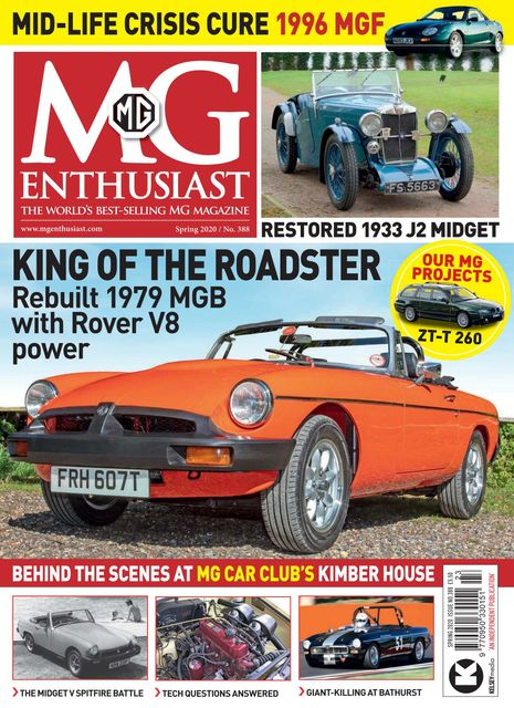 MG Enthusiast issue Spring 2020