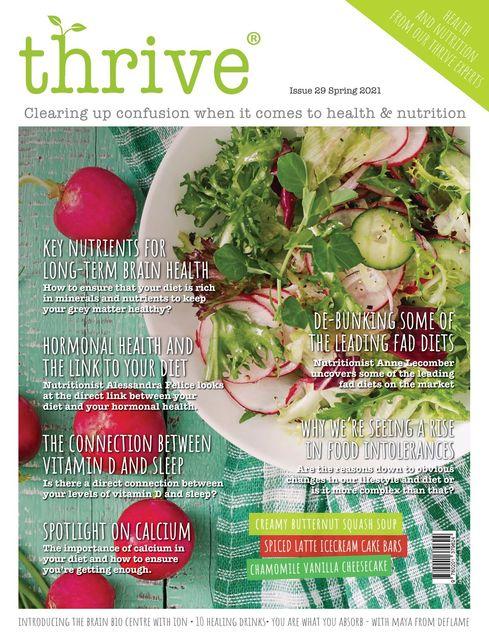Thrive Nutrition Magazine issue Spring 2021
