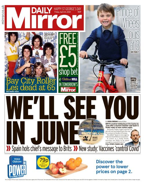 Daily Mirror 2021-04-23