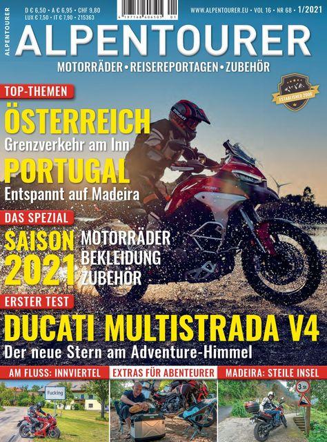 ALPENTOURER – Europas Motorrad-Tourenmagazin Ausgabe 01/2021
