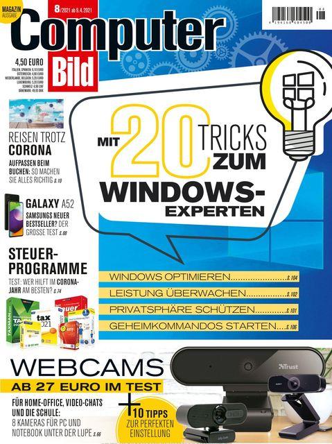 COMPUTER BILD Ausgabe 08/2021