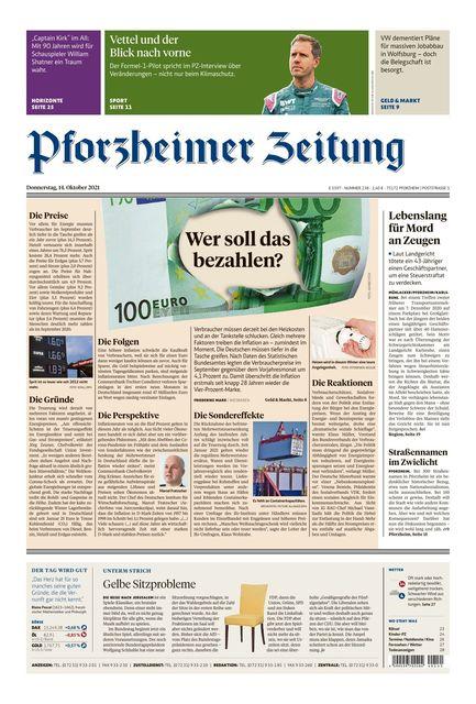 Pforzheimer Zeitung - Ausgabe Pforzheim 2021-10-14