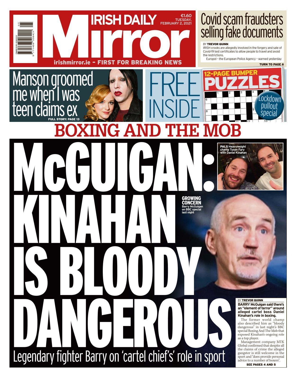 Irish Daily Mirror 2021 02 02