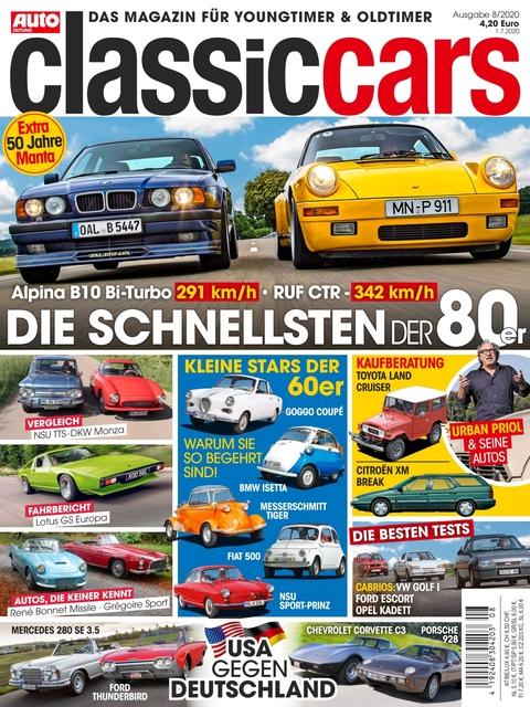 AUTO ZEITUNG classic cars Ausgabe 8/2020