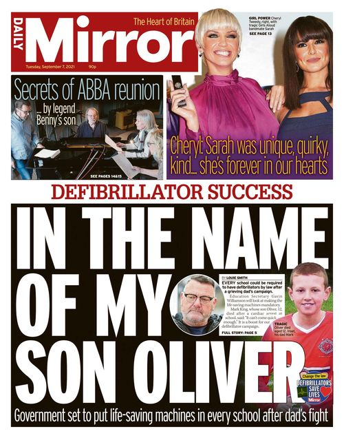Daily Mirror 2021-09-07