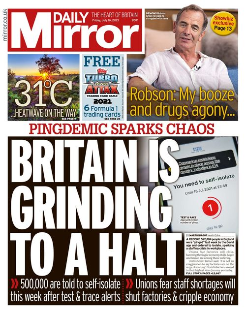 Daily Mirror 2021-07-16